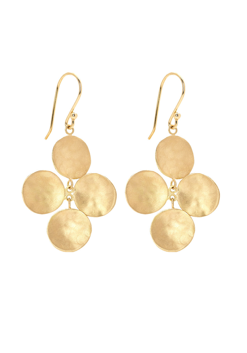 Anne Sportun Concave Disk Charm Hook Earrings