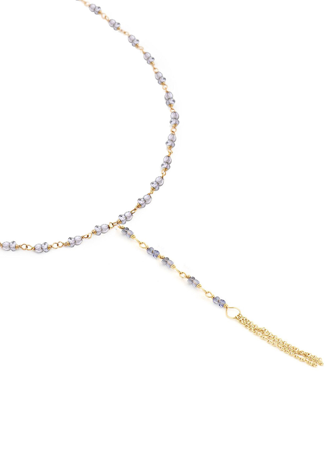 Anne Sportun Iolite Bead Lariat Necklace