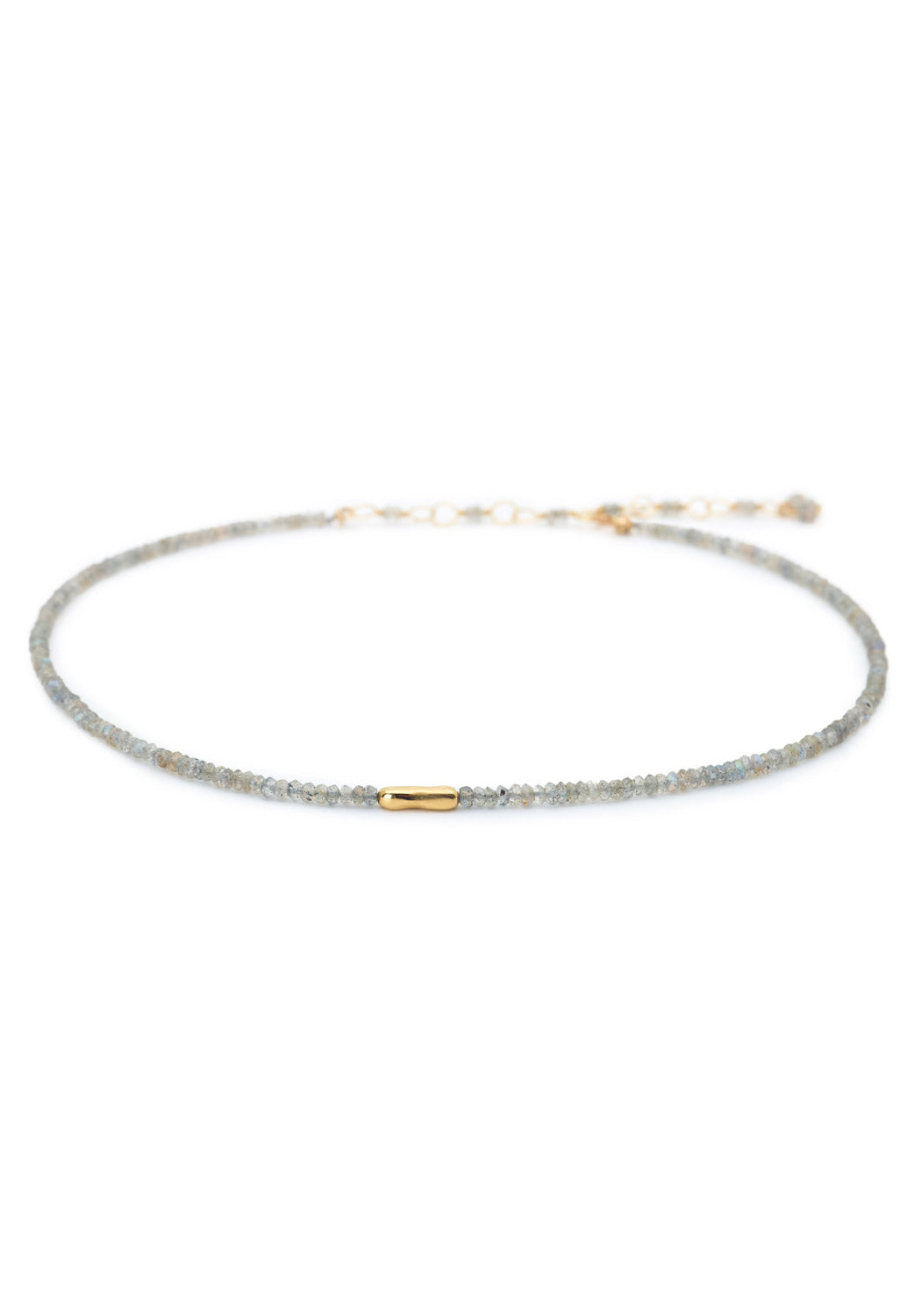 Anne Sportun Labradorite Bead Choker with Gold Accent