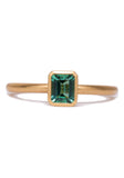 Kimberly Collins Green Tourmaline Yellow Gold Ring