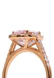 Kimberly Collins Oval Morganite Diamond Rose Gold Ring