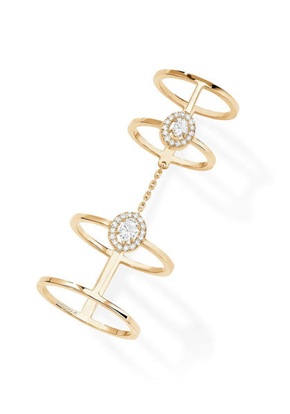 Messika Glam'Amzone Double Diamond Ring