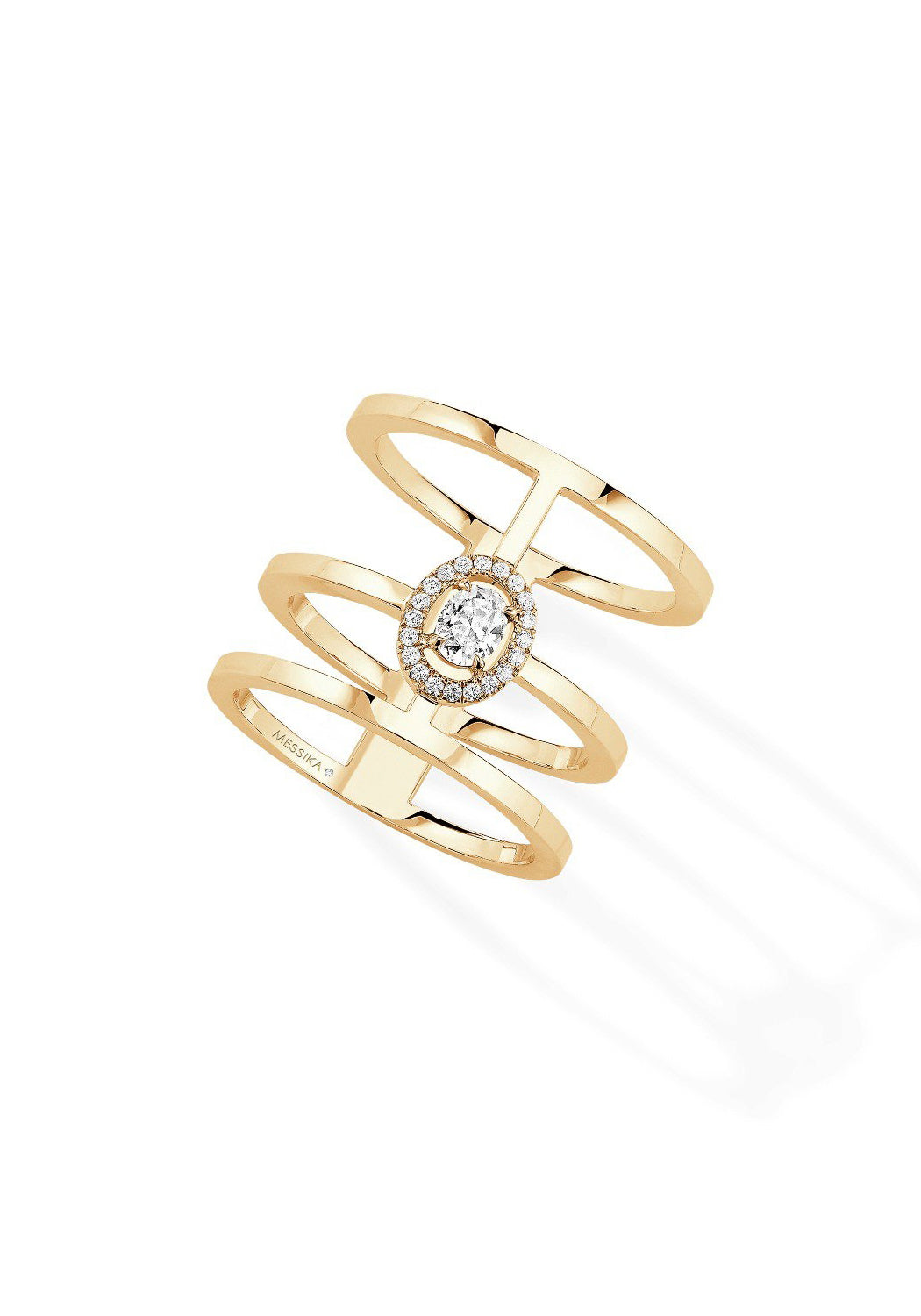 Messika Glam'Amzone 3 Row Diamond Ring