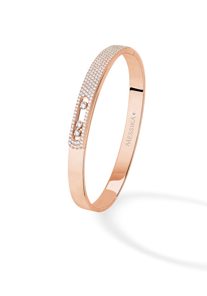 Messika Move Noa Pave Diamond Rose Gold Bangle