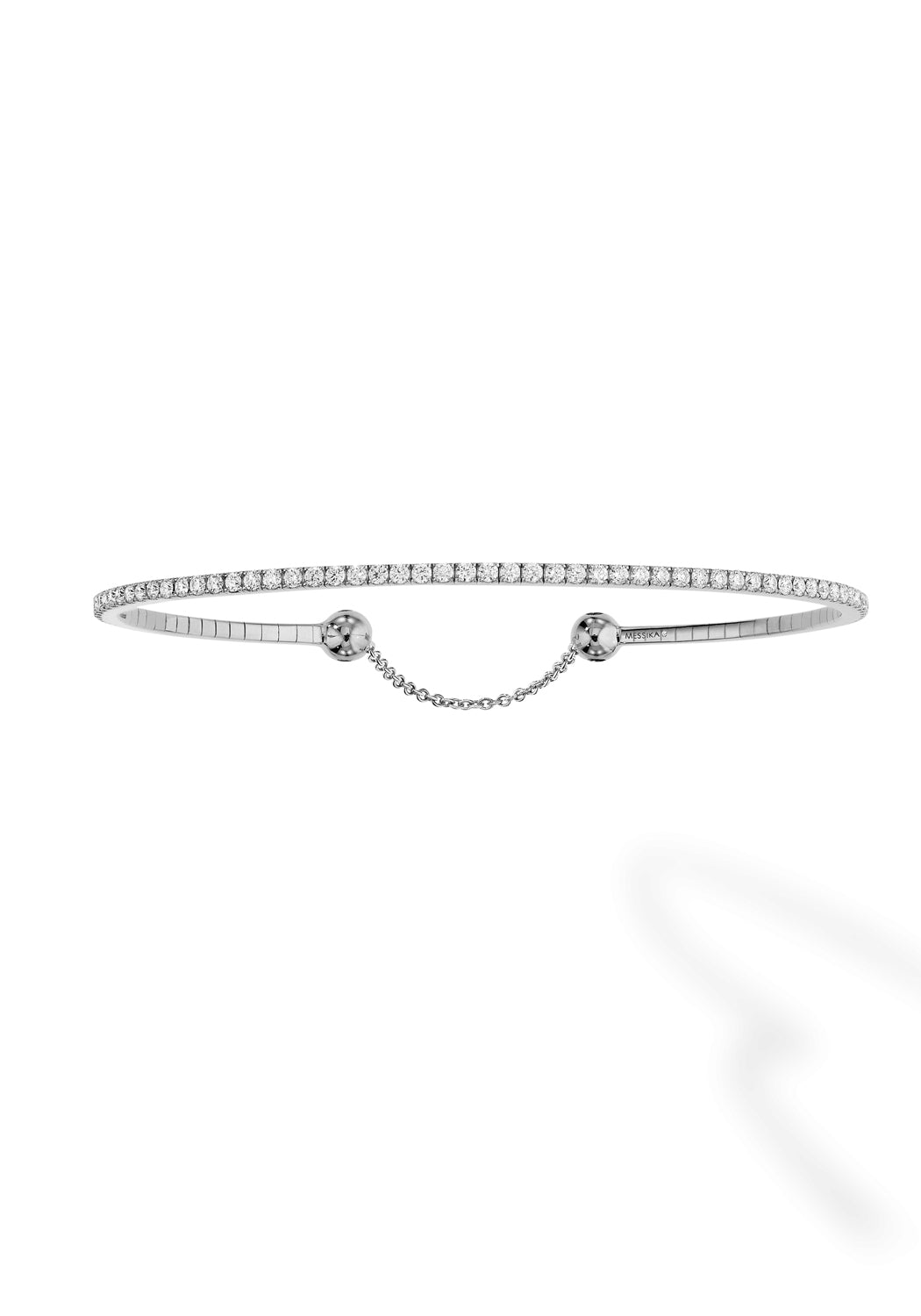Messika Skinny White Gold Diamond Bracelet