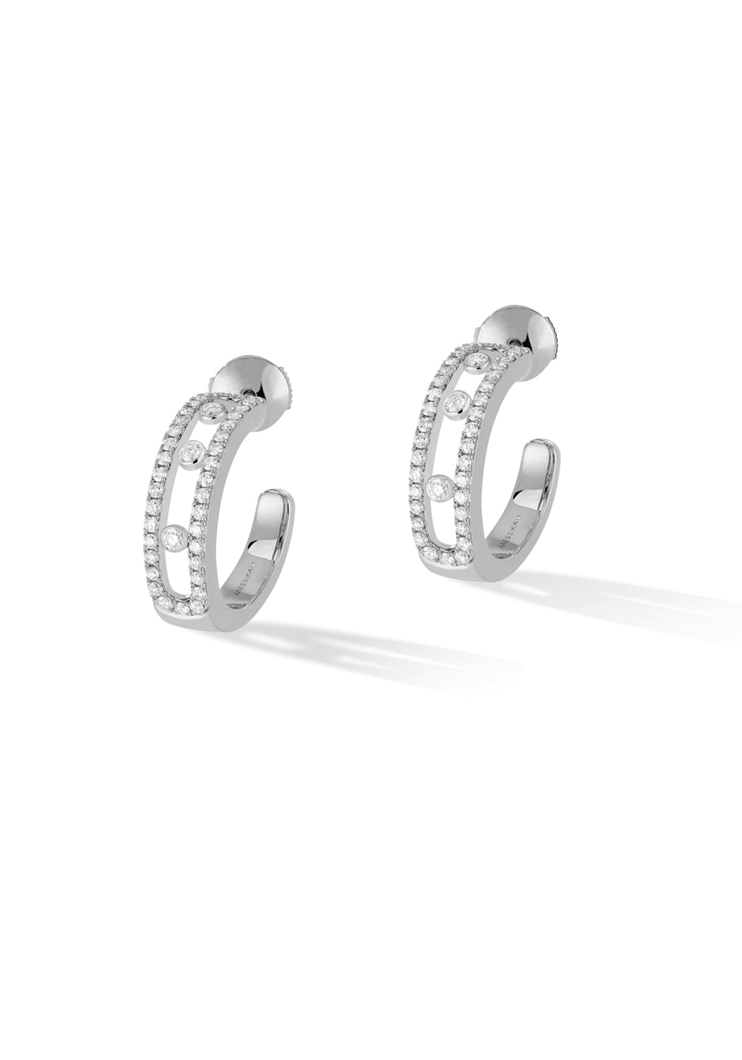 Messika Move Pave Hoop Earrings