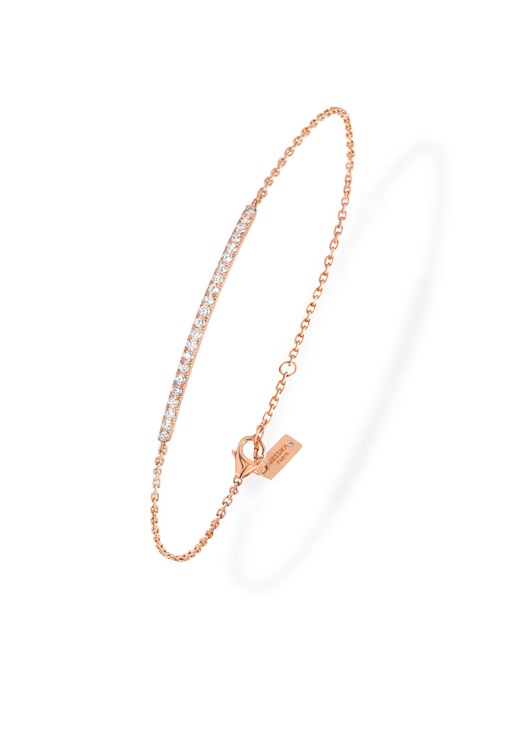 Messika Gatsby Bar Rose Gold Diamond Bracelet