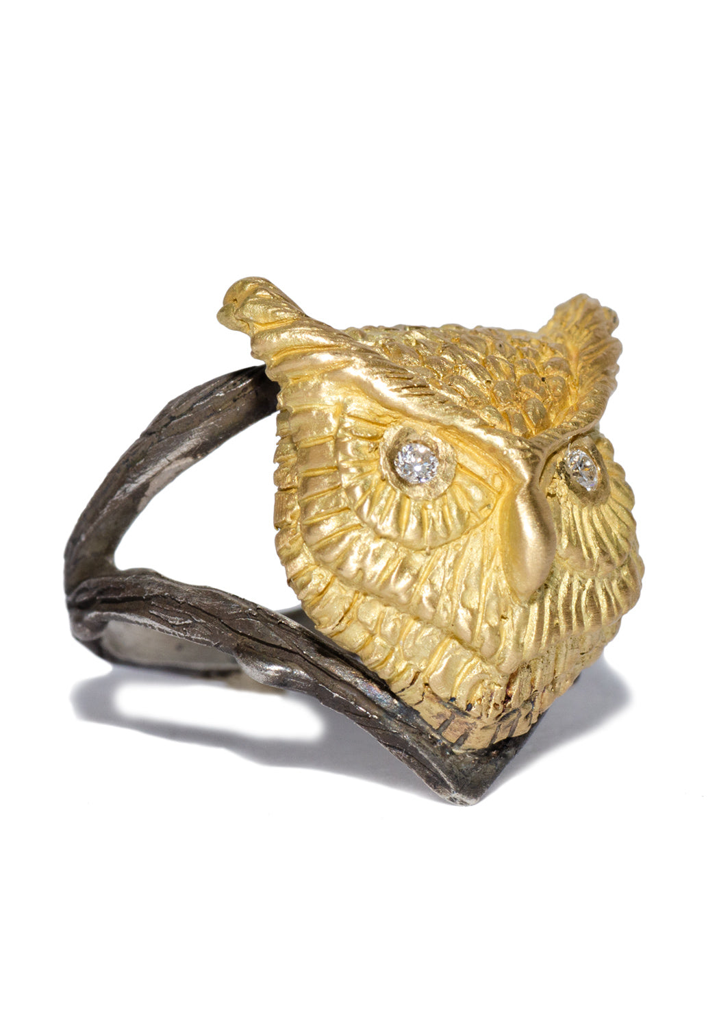 Melinda Risk 18KYG Spirit Owl Ring