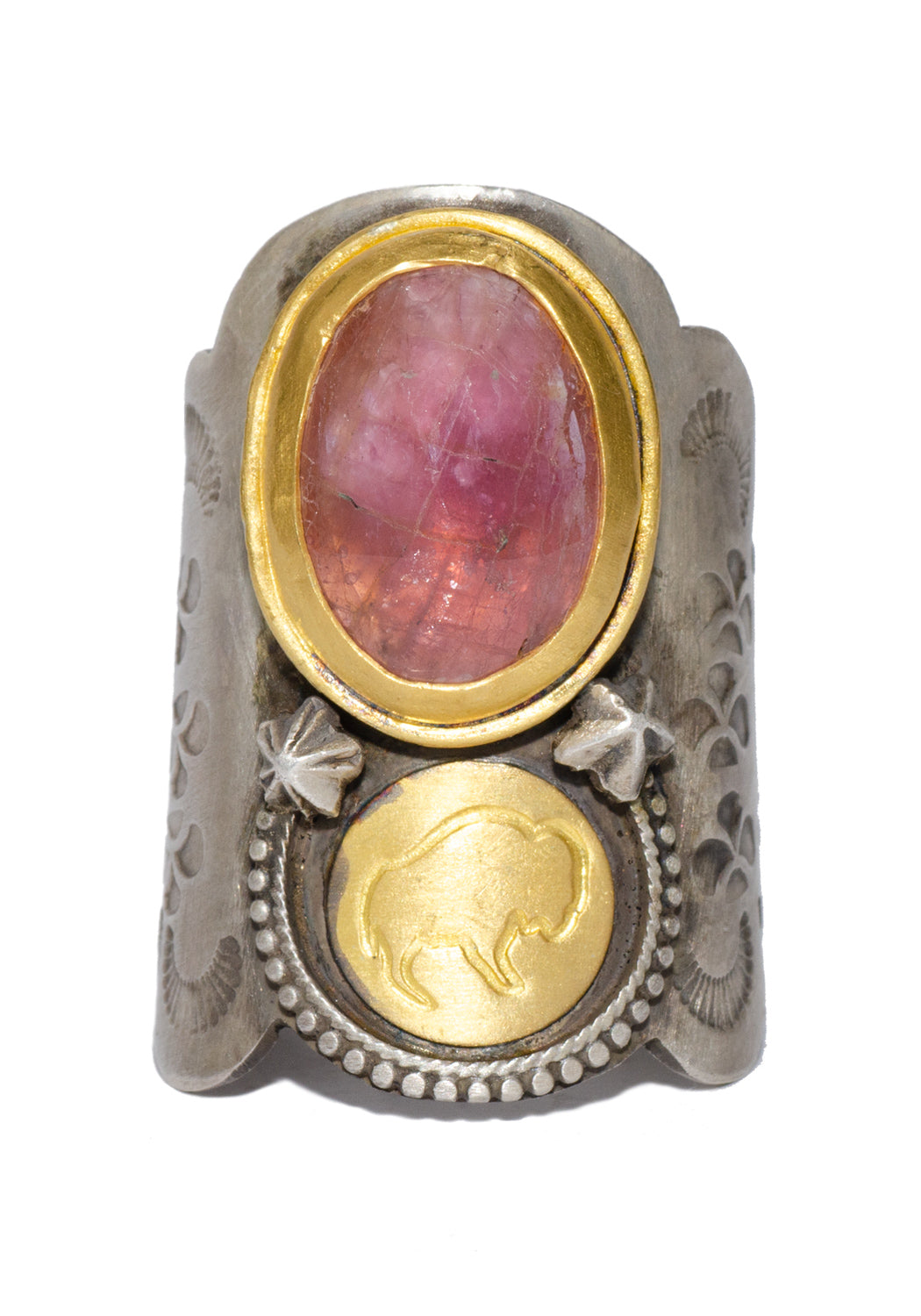 Melinda Risk Buffalo Saddle Ruby Ring
