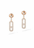 Messika Move Uno Diamond Rose Gold Dangle Earrings