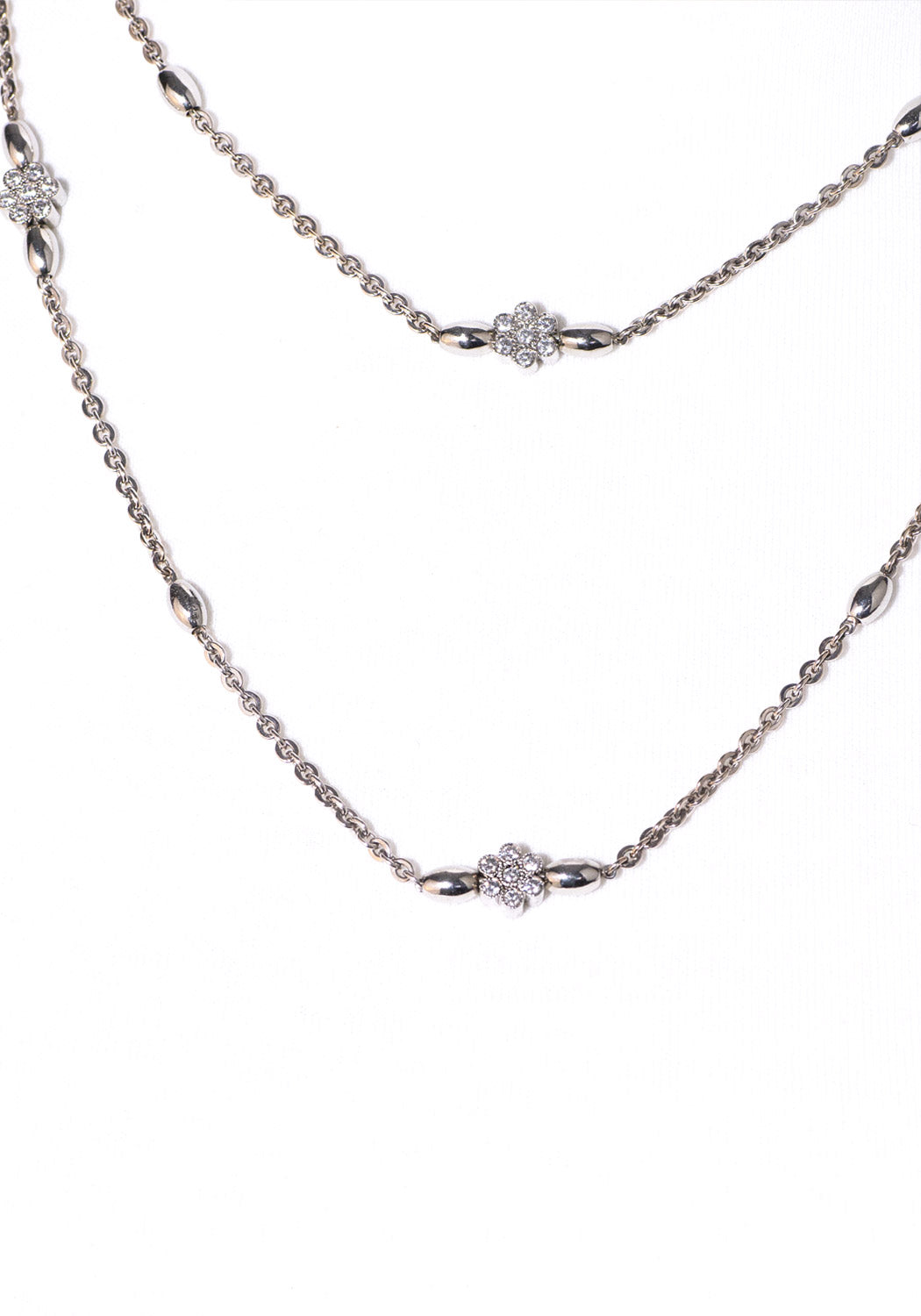 "Katharine James Platinum 36"" Diamond Necklace 3.04ctw"