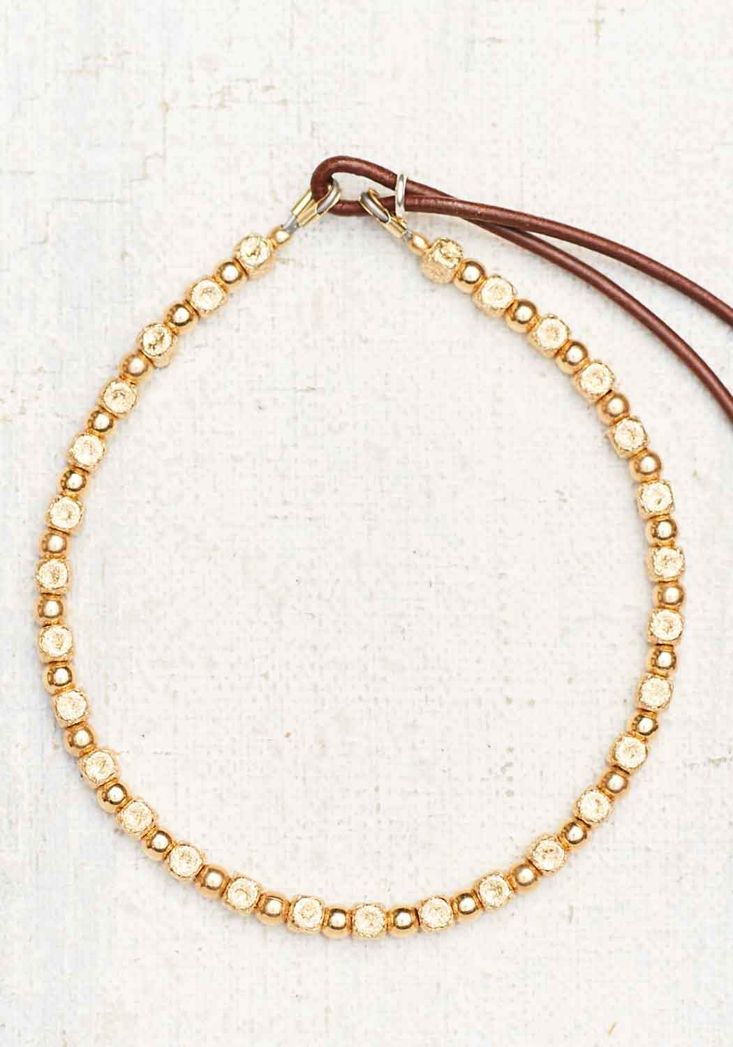 "Catherine Michiels ""Ciao"" 14K Yellow Gold Bead Bracelet"