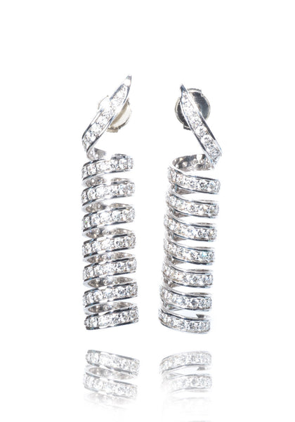 Alex Soldier Spiral Diamond Earrings