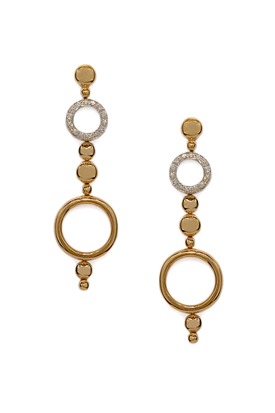 Antonini Alaskan White & Rose Gold Diamond Dangle Earrings