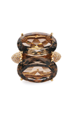 Antonini Smokey Quartz & Diamond Panama Ring