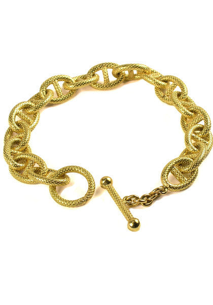 Marchisio Anchor Link and Toggle Bracelet