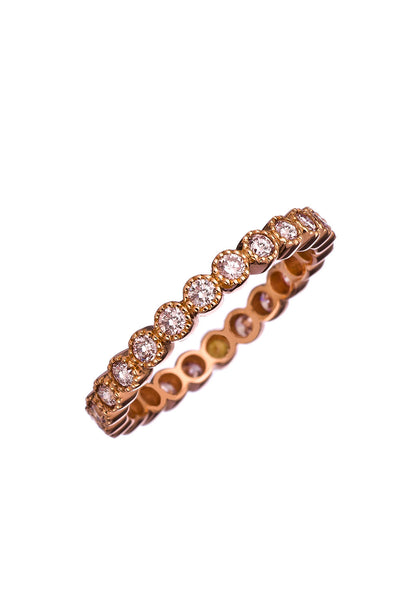 Sethi Couture Rose Gold & Pink Diamond Bezel Eternity Band
