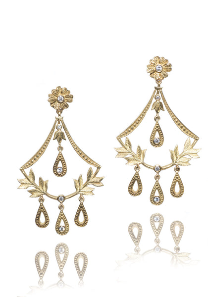 Jamie Wolf Gold & Diamond Chandelier Earrings