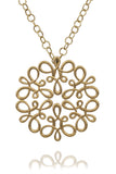 Carla Amorim Yellow Gold Scroll Pendant