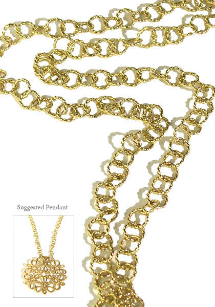 Carla Amorim Passatempo Yellow Gold Long Chain Necklace