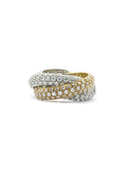 Garavelli Three Band Diamond Ring