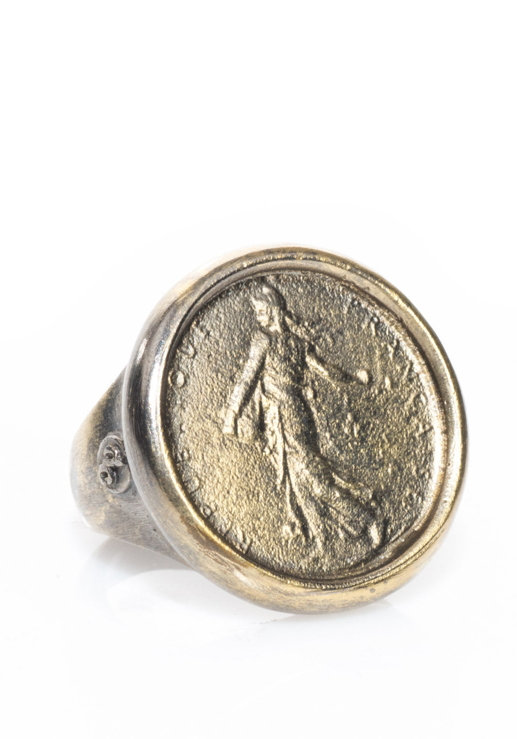 Dominique Cohen Blackened Goddess Coin Ring
