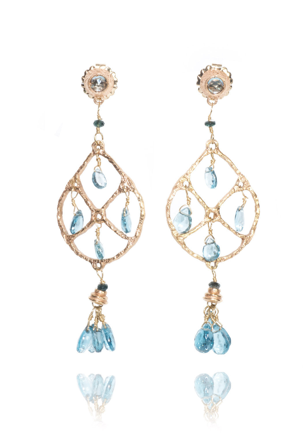 Dominique Cohen London Blue Topaz Dreamcatcher Earrings