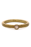 Arunashi Textured Rosecut Diamond Ring