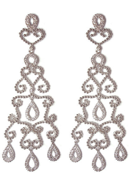 Carla Amorim Fascination Chandelier White Gold Earrings