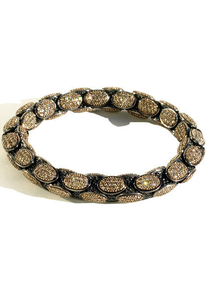 Roberto Demeglio Black/Brown Diamond Anaconda Bracelet