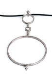 Antonini Alaskan White Gold & Diamond Circle Pendant Necklace