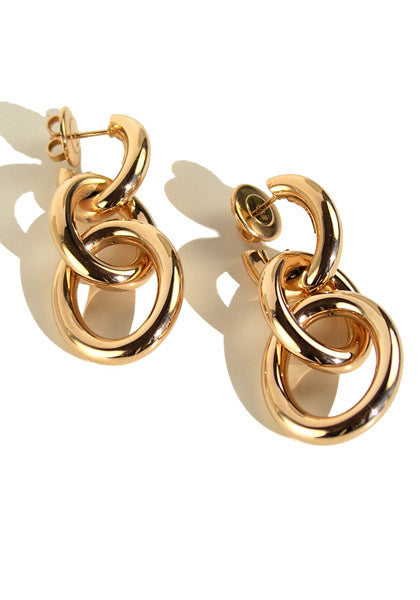 Oromalia Rose Gold Triple Loop Dangle Earrings
