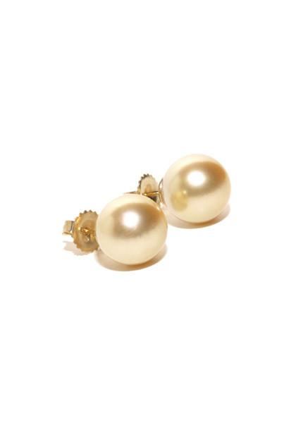 Pearls Golden South Sea Pearl Stud Earrings