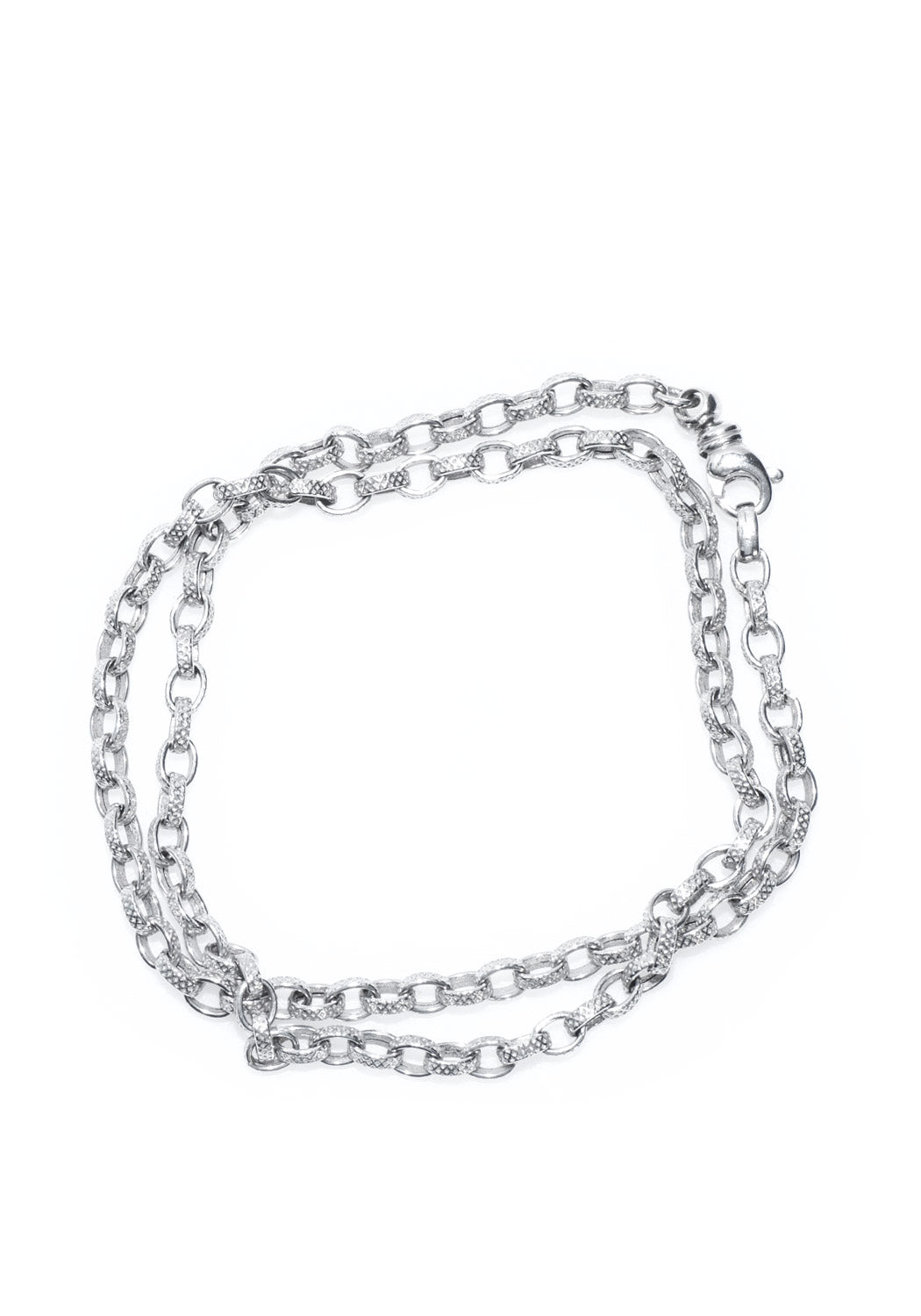 "Marchisio 15"" White Gold Link Necklace"