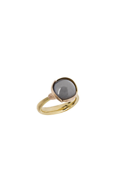OLE LYNGGAARD Lotus Grey Moonstone Ring