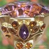 Paula Crevoshay Ametrine, Amethyst, and Citrine Ring
