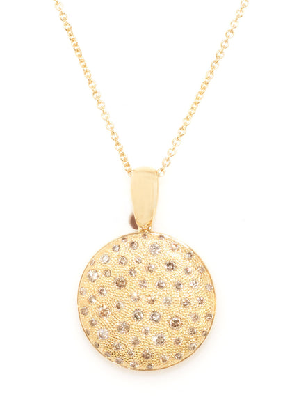 Garavelli Diamond Disc Necklace