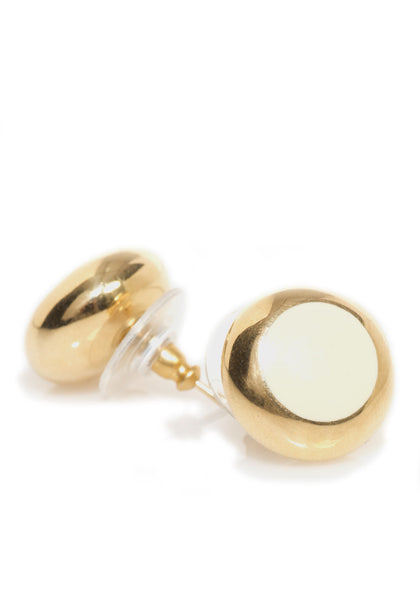 K Di Kuore White Enamel Button Earrings  30% Off ON SALE!