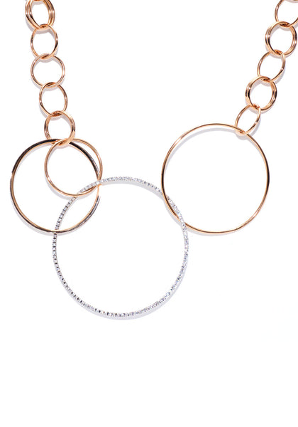 K. Di Kuore Diamond Circles Necklace