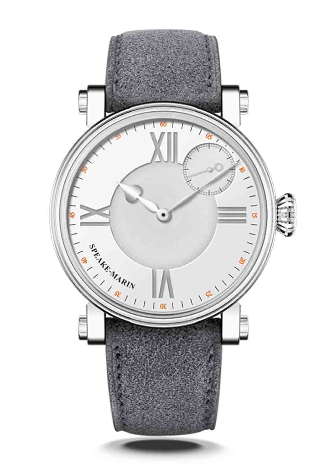 Speake-Marin One & Two Academic Silvery White 38mm