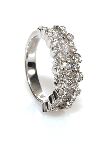 Stefan Hafner Small Diamond Corset Ring