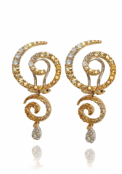 Stefan Hafner Zingara Small Sapphire & Diamond Drop Earrings