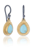 Lika Behar Pompei Gold & Turquoise Earrings