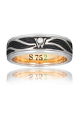 Wellendorff Black Enamel 6mm Wave Ring