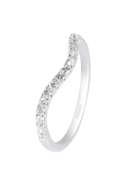 Parade Designs Diamond White Gold Curved Band