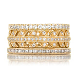 Sethi Couture Yellow Gold Eternity Band With Diamonds