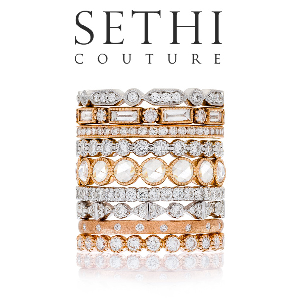 Sethi Couture Stacking Diamond Bands