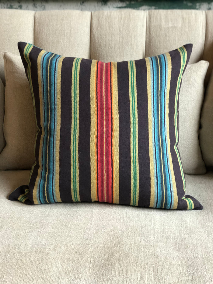 Custom Pillow in Mendoza Stripe