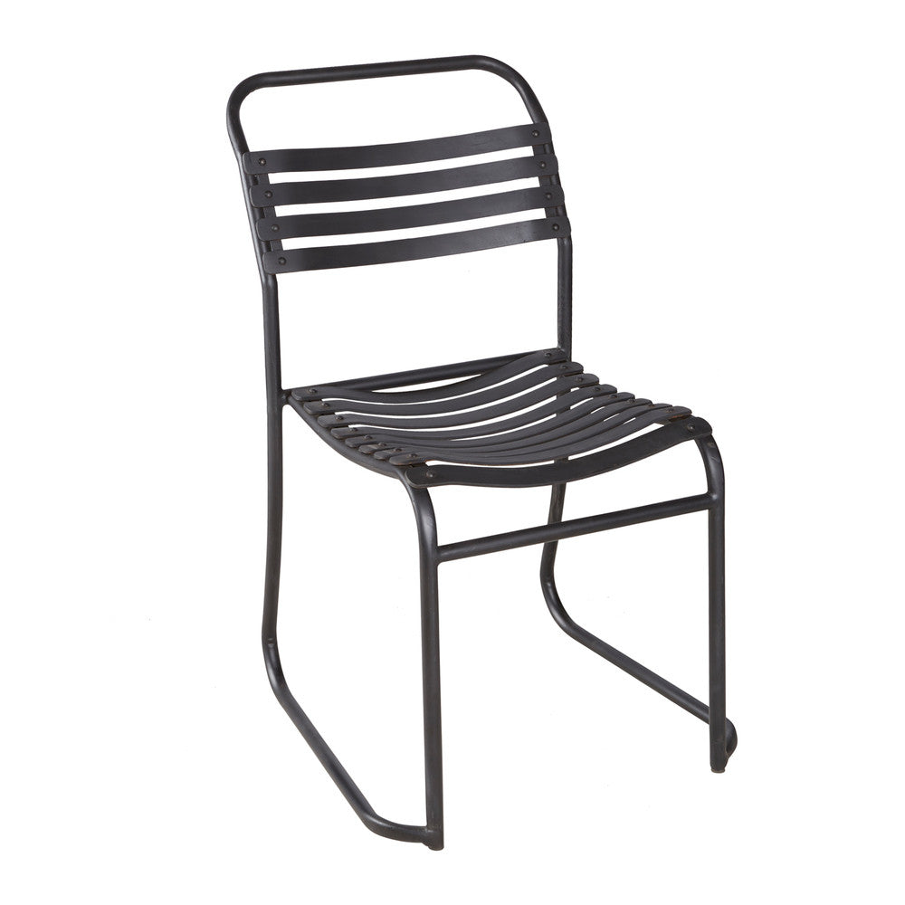 Rubber Slated Stacking Chair