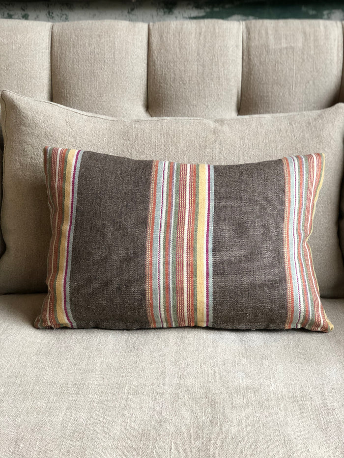 Brown Stripe Accent Pillow